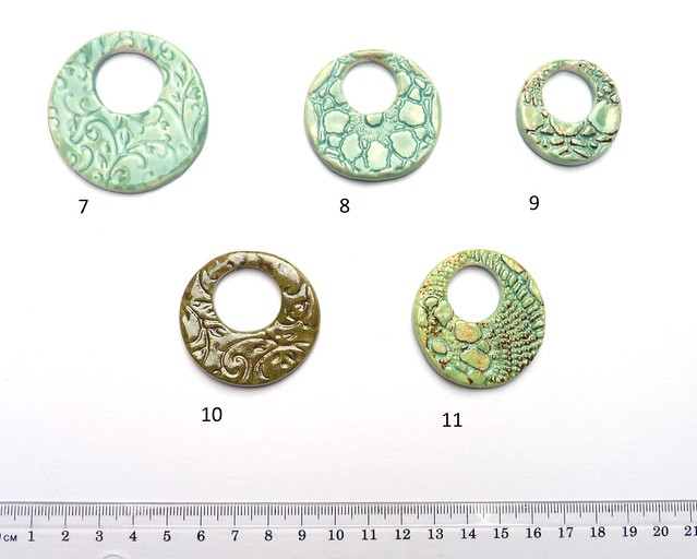 Ceramic doughnut pendants
