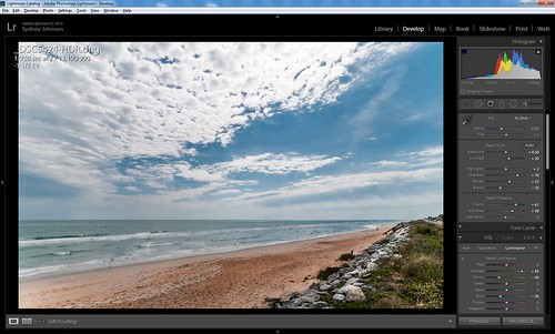 Screenshot showing Lightroom's Basic settings and HSL Luminance settings