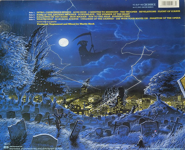 "IRON MAIDEN Live After Death World Slavery Tour 1984/85 2LP Germany 12"" ALBUM VINYL"