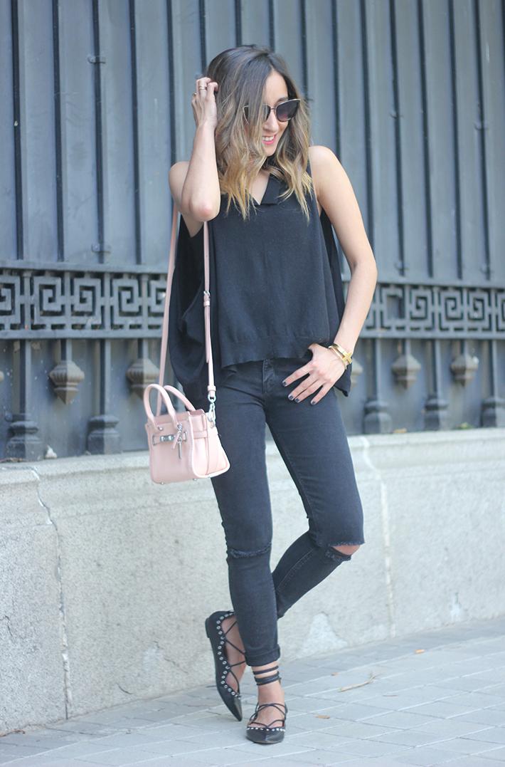 Lace Up Flats Black Jeans Top Hoss Intropia Coach Bag Aristocrazy18