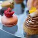 Citrus Mont Blanc and raspberry macaron