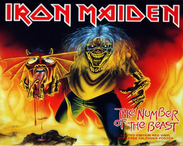 "IRON MAIDEN The Number of the Beast 7"" Red Vinyl + Poster"