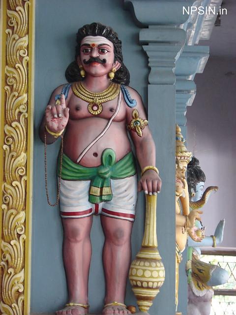 A south Indian style paint on Lord Ganesha temple near Shri Sai Dham.