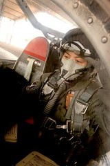 Final shot of Lt Johanna Herrera in the cockpit of her T-37 preparing to fly before her death