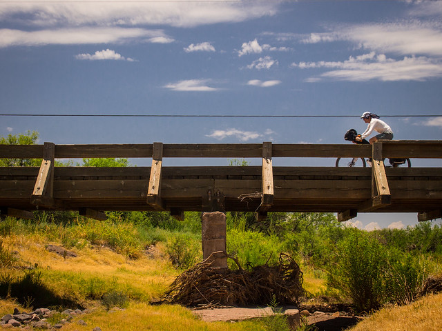 Crossing a Bridge on the Geronimo Trail