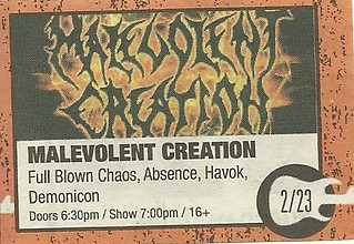 02/23/11 Malevolent Creation/ More @ Station 4, St. Paul, MN