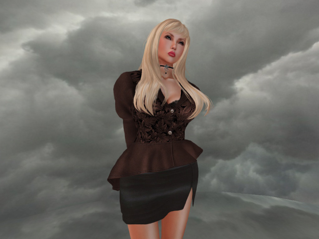 [B!] :HEAR THE WIND: Espresso (Blouse & Skirt) gift from BASTA!