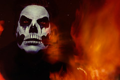 Self portrait - Flamethrowers, facepaint and fantoms