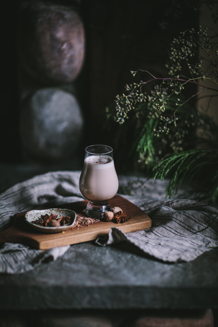 Honeyed Blackberry Eggnog by Eva Kosmas Flores | Adventures in Cooking