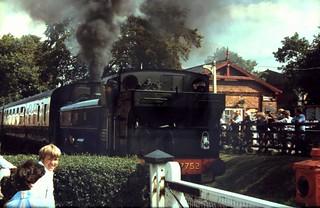 86-255 1980s visting locos to the K&ESR - three of three;   Tysley's 57XX 0-6-0PT No. 7752 at Tentereden