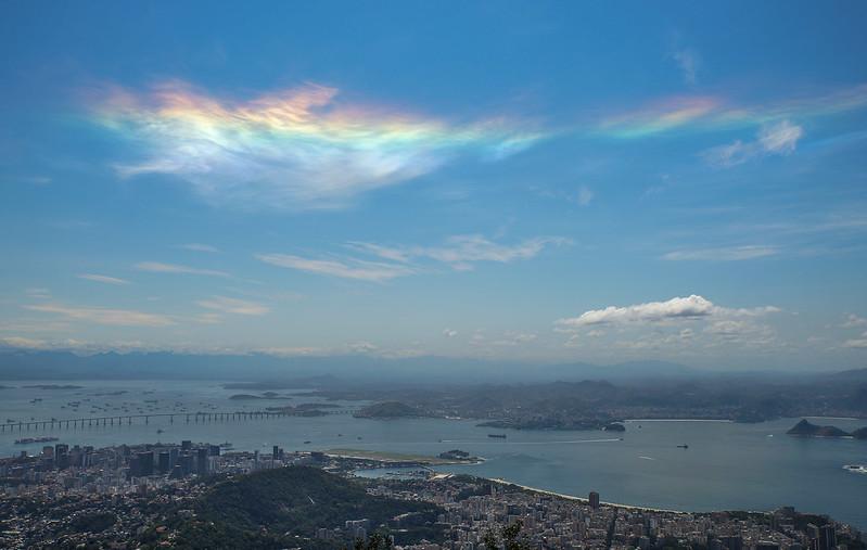 Rainbow cloud  Rio de Janeiro Brazil Brasilia halo arc