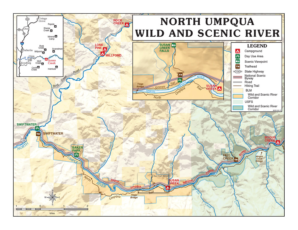 Umpqua Oregon Map.North Umpqua Wild And Scenic River Visit One Of Oregon S M Flickr