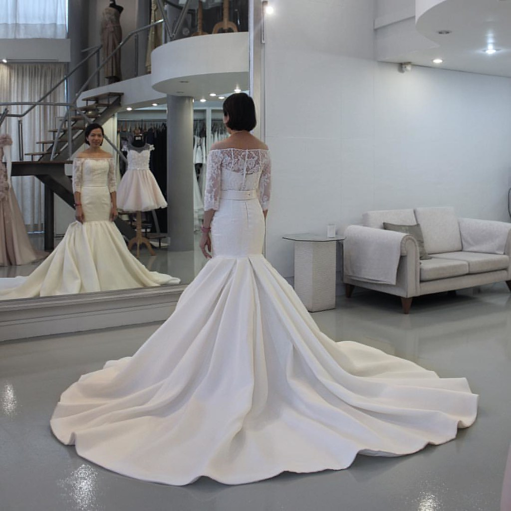 Spotted Khun Goongskie in custom wedding gown. Made to measure ...