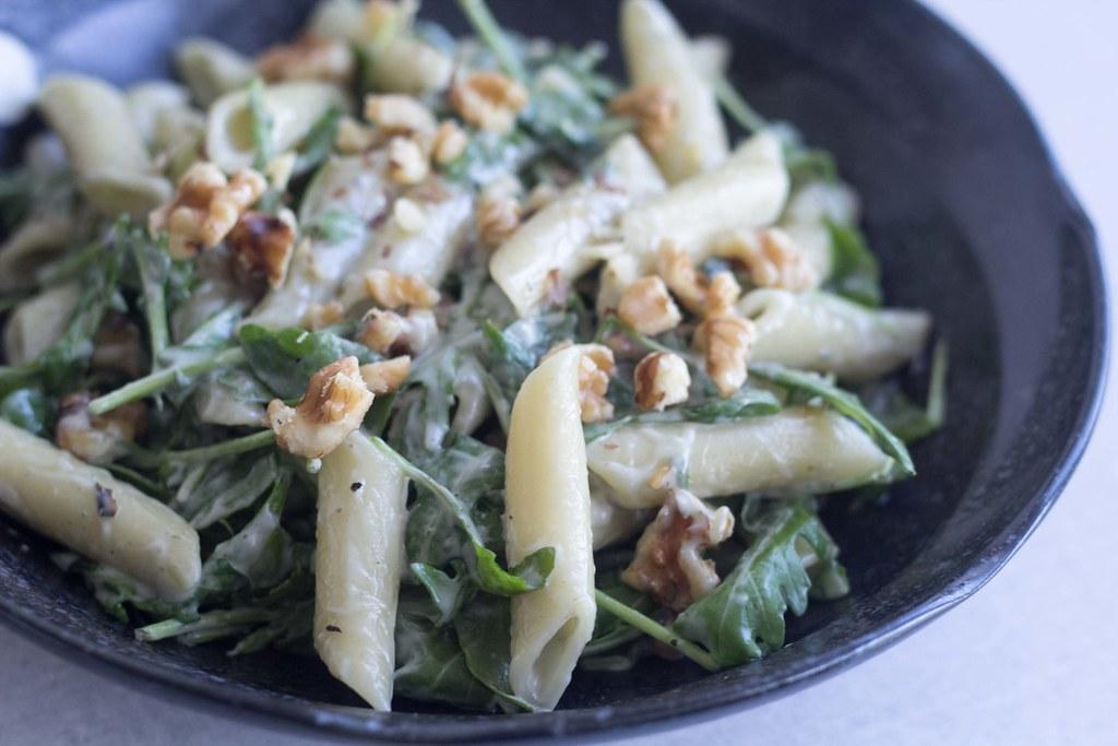Pasta med gorgonzolasauce, ruccola og valnødder (19)