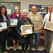 Sun, 10/11/2015 - 07:44 - Five Orleans County residents were honored for their efforts to preserve Orleans County history. The group includes from left: Melissa Ierlan, Delia Robinson, Peg Wiley, Al Capurso and Tim Archer.
