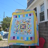 Modified Modern Medallion quilt top is finis!