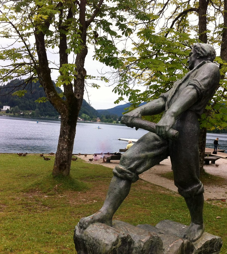 Lake Bled Rower statue