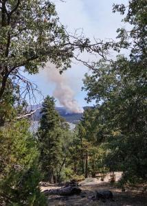 Fire near Snow Summit
