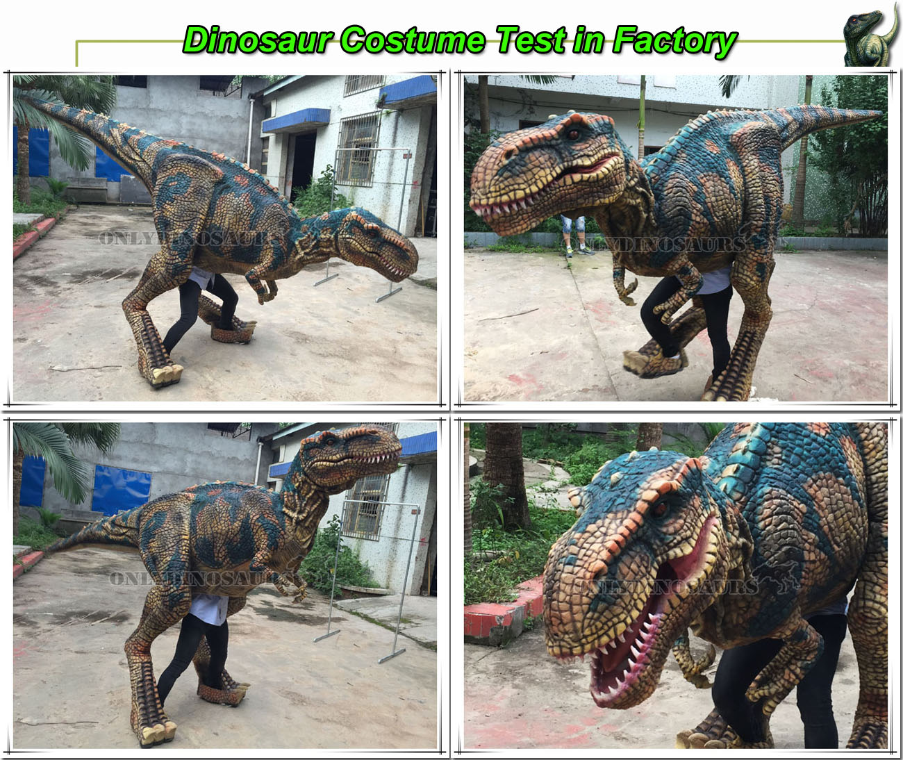 T-Rex Puppet Test in Factory