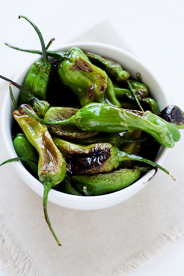sauteed shishito peppers