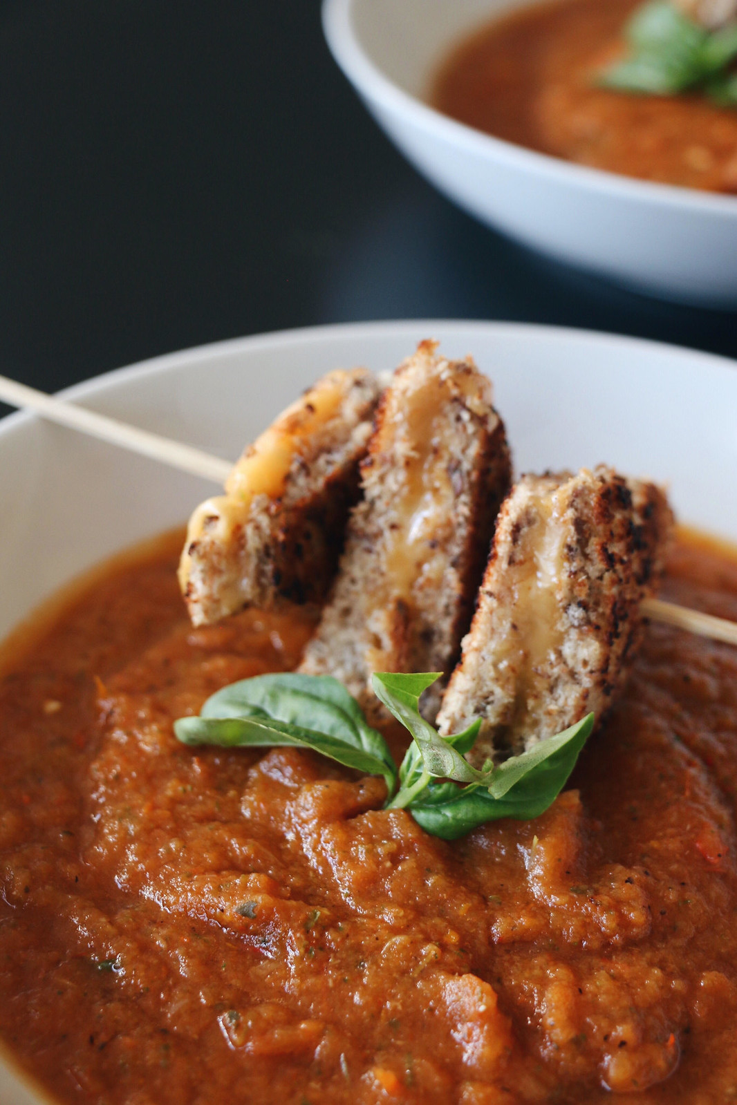 tomato soup & grilled cheese skewer 5
