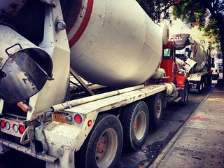Part 1 - C is for the Cement trucks waiting to go to the Construction site. ( wait for part 2 ) #alphabetsoup #photo #jwab