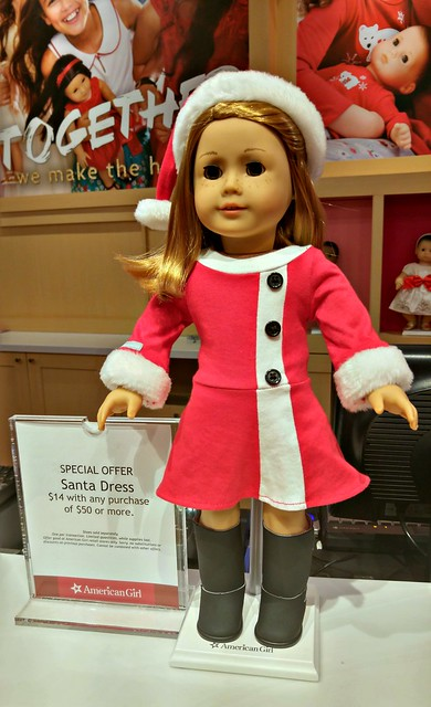 American Girl holiday store exclusive Santa outfit