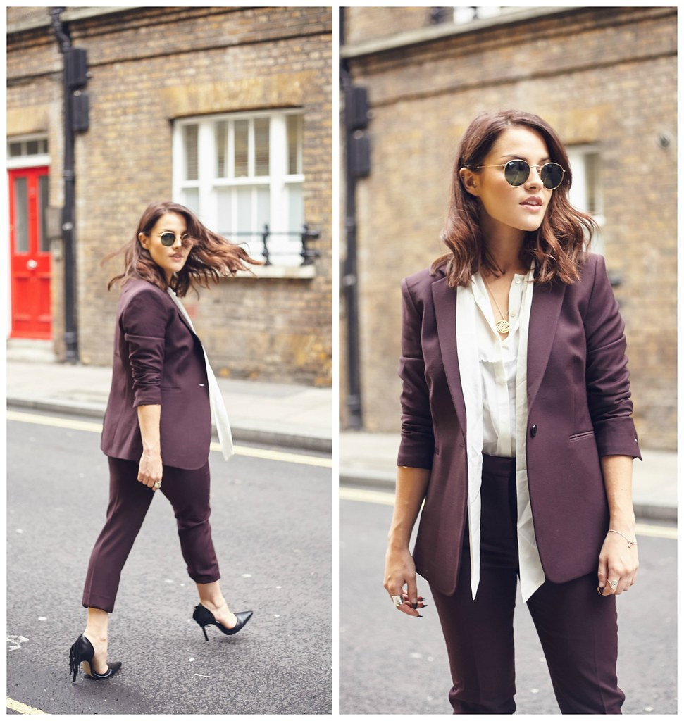 The Little Magpie Reiss burgundy suit 1