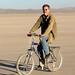 Man on a bike by simonov