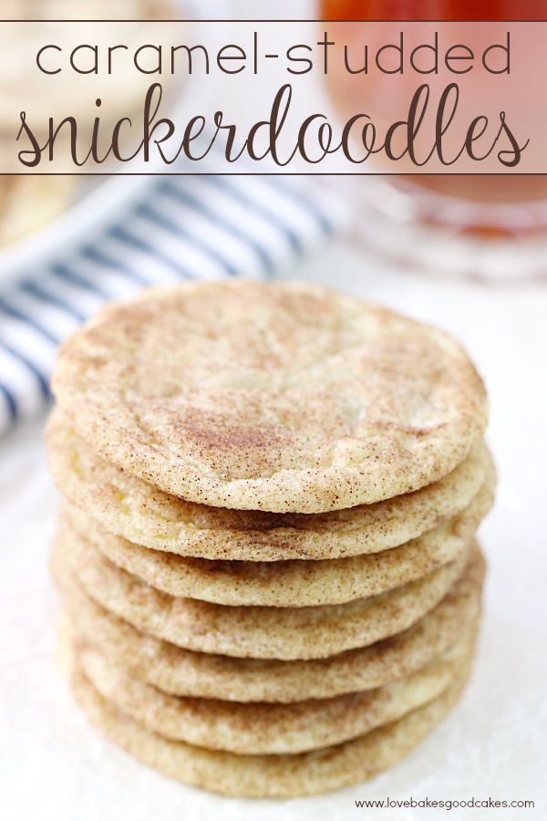 Take a break from the hectic holiday season with these Caramel-Studded Snickerdoodles and your favorite Bigelow tea! These cookies are perfect for holiday cookie trays too! #MeAndMyTea #ad