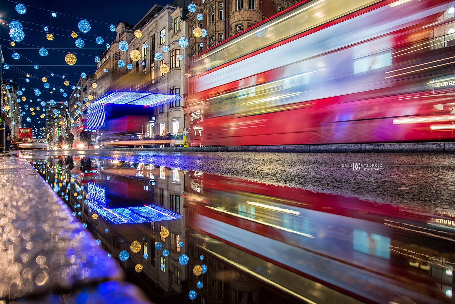 """Winter Wonderland"" Christmas Lights Regent Street, London, UK by David Gutierrez Photography, London Photographer"