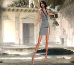 Wiccas Wardrobe - Elaine Dress [Pinestripe Light]