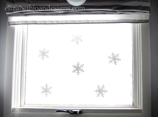 Snowflake Kitchen Window