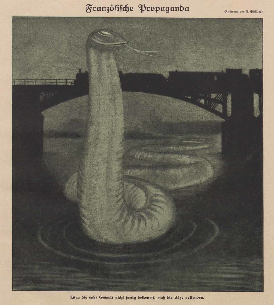 Erich Schilling - French Propaganda, 1923