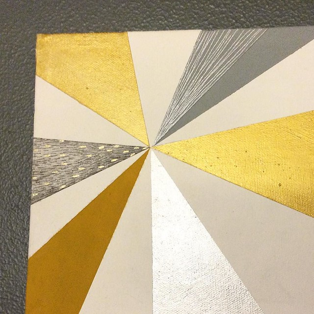 A gold and silver pinwheel painting for our mantel. I'm still working on holiday decorations, the boxes have just been sitting in our living room. You know that part in Elf where he tells his dad they'll make snow angels, go ice skating, eat Cookie dough