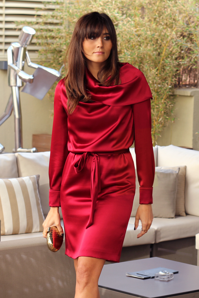 escarda red dress coohuco 7