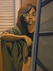 Limited palette oil self portrait, 2012