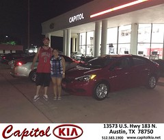 Congratulations Feliz on your #Kia #Forte from Ivan Rodriguez at Capitol Kia!