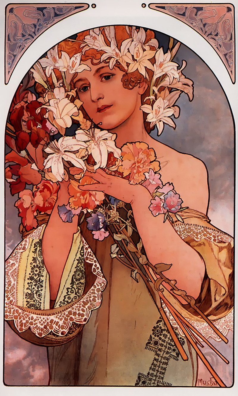 Flower by Alphonse Mucha, 1897
