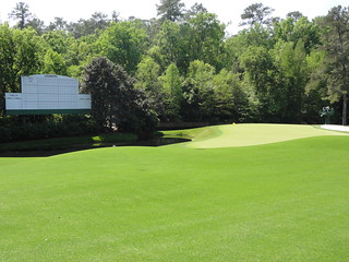 11th green at Augusta National, The Masters golf