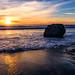 Sunset at San Simeon Beach by jthight