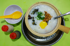Congee for dinner at Dunman Road Food Centre