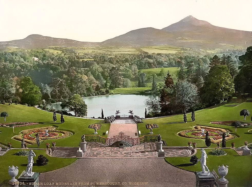 Sugar Loaf Mountain, from Powerscourt. County Wicklow, Ireland