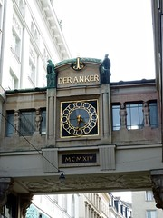The Anker's back side, Anker Clock in Vienna Austria