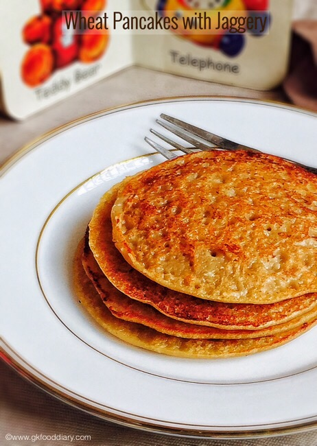 Wheat Pancakes for Babies 3