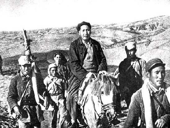 Mao Zedong during Long March