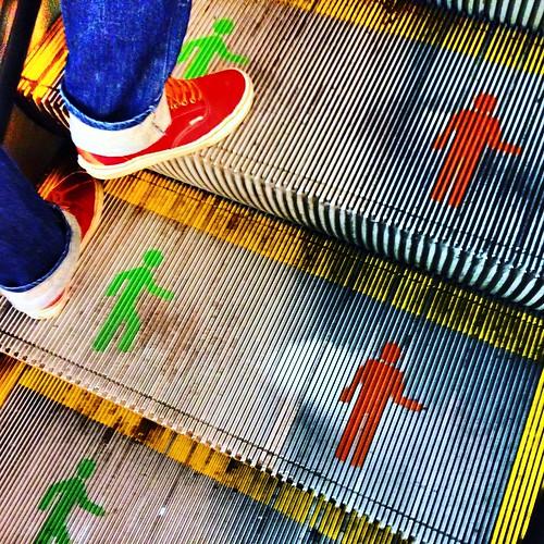 Avance por la izquierda - Metro de Santiago