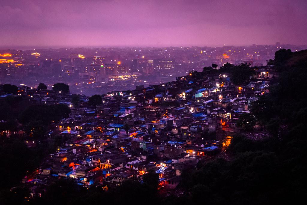 Mumbai slums.
