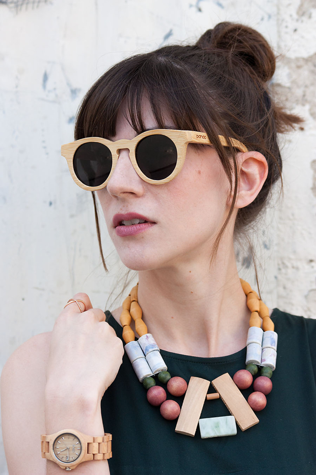 Wood Accessories, Panda Sungalsses, Wood Sunglasses, History and Industry Necklace, Jord Watch, Wood Watch