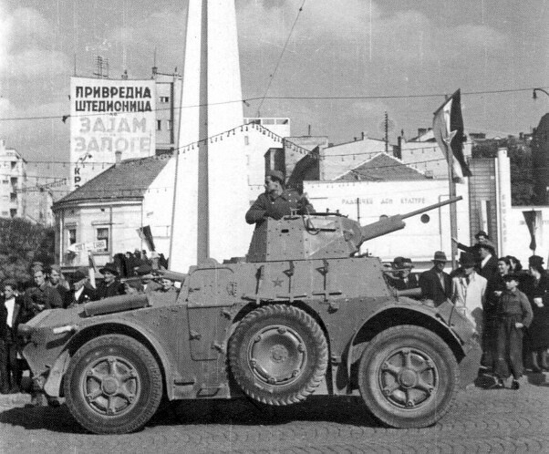 Former Italian armored car Autolinda 41 in Belgrade